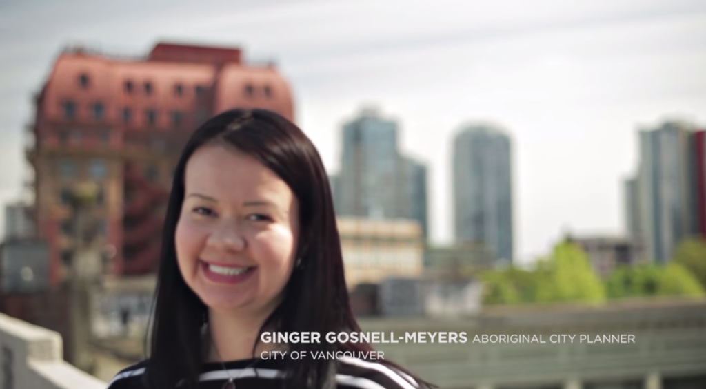 Ginger Gosnell-Myers, Aboriginal City Planner, City of Vancouver